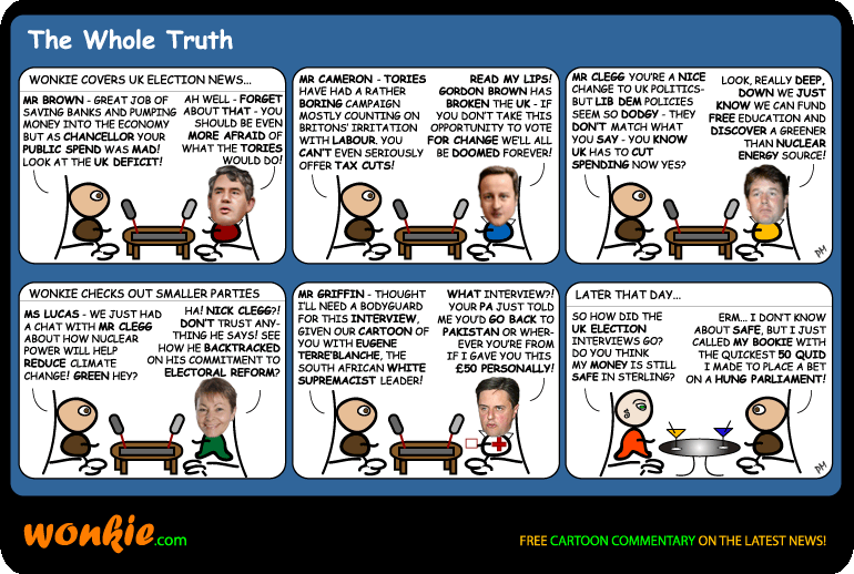 2010 UK election Cartoon – Hung parliament? image