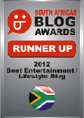 2012 SA Blog Awards Runner Up Badge