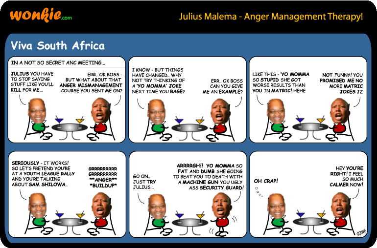 Zuma coaches Malema on Anger Management