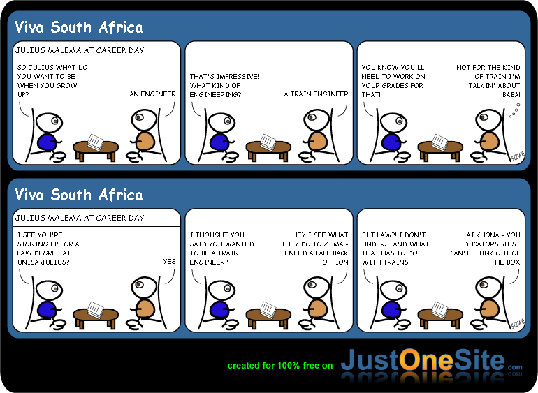 Julius-Malemas-matric results cartoon