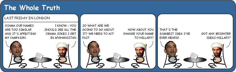 Osama and Obama Whats in a name cartoon