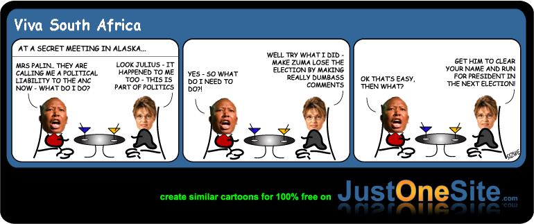 Malema and Palin pt1 cartoon
