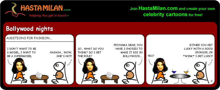 Priyanka Fashion cartoon