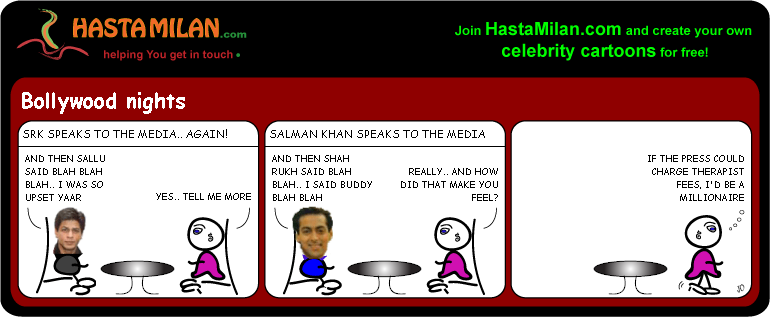SRK and Sallu feud cartoon