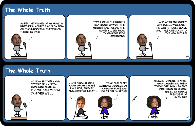 Sarah Palin on Oprah cartoon