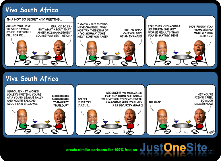 Zuma and Malema cartoon