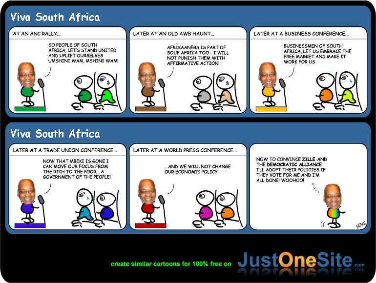 Zuma promises cartoon