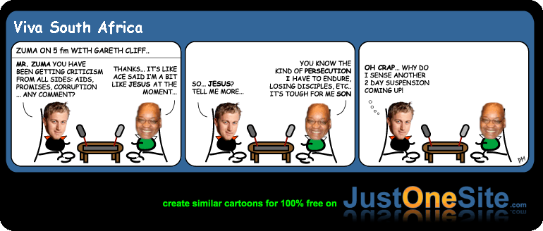 Zuma is Jesus cartoon