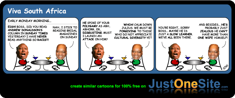 Zuma polygamy cartoon
