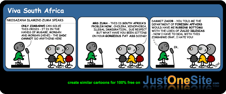 foreign affairs zuma on zim cartoon