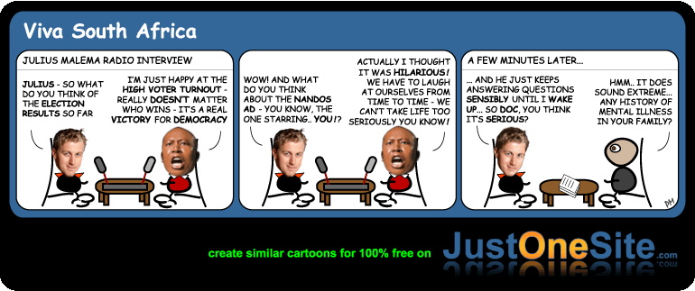 Malema Nandos election ad cartoon