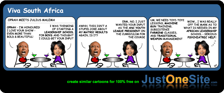 Oprah South Africa School cartoon
