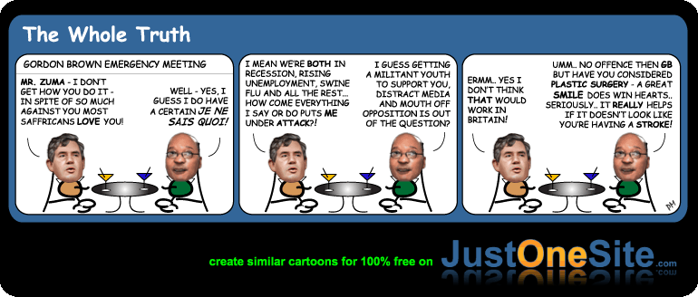Gordon Brown youtube smile cartoon
