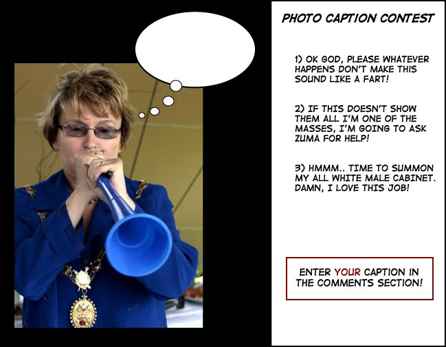 Helen Zille thinking photo caption
