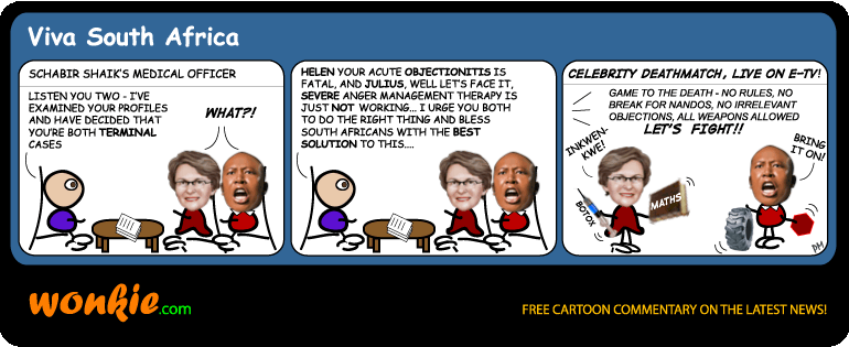 Zille Malema deathmatch cartoon