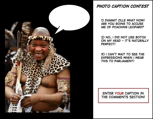 Zuma zulu photo caption contest