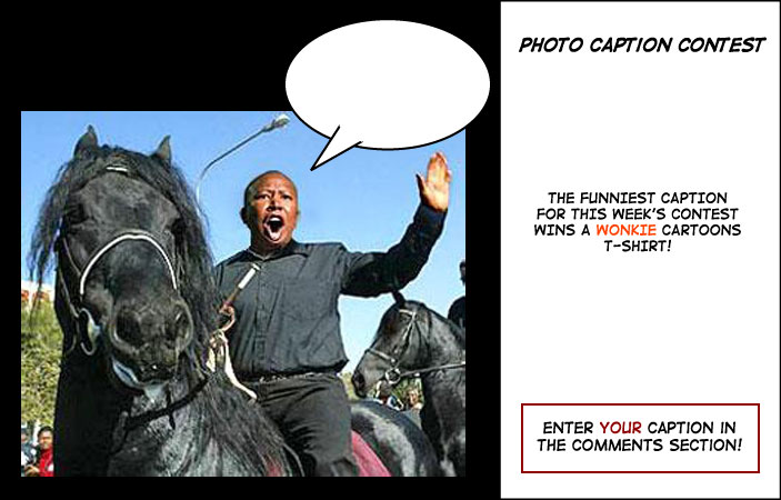 Julius Malema horse photo contest