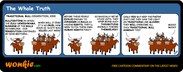 Zulu traditional bull cartoon