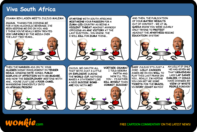 Julius Malema jokes cartoon