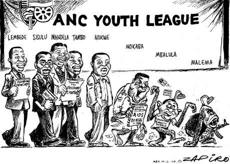 Zapiro Malema evolution cartoon