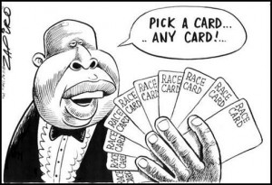 Zapiro Malema cartoon - race card