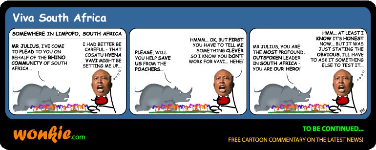 Rhino poaching cartoon