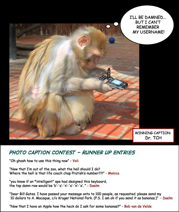 Cellphone Monkey Photo Contest