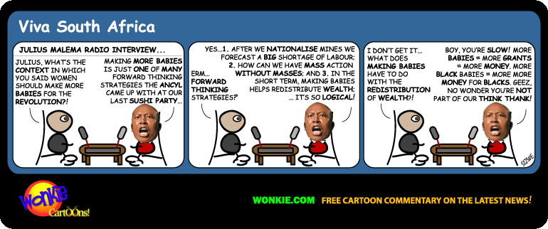 Julius Malema make babies cartoon