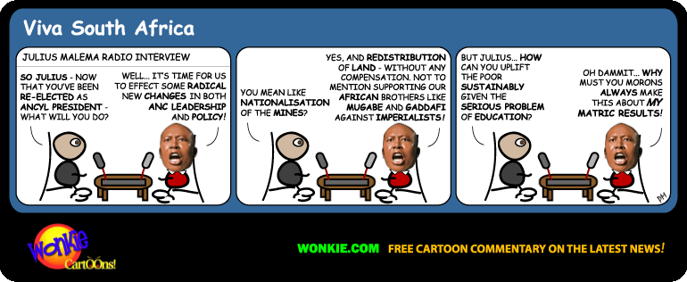 Julius Malema ANCYL President cartoon