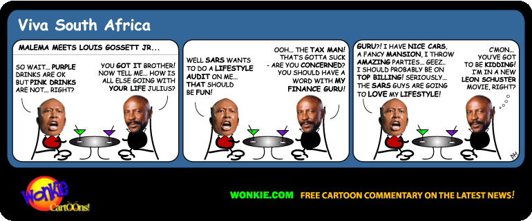 Julius Malema Lifestyle Audit cartoon