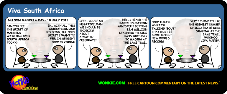 Nelson Mandela Day cartoon