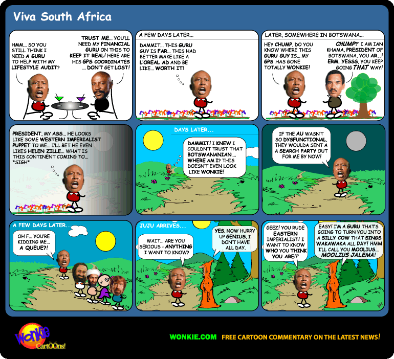 Julius Malema meet Guru cartoon