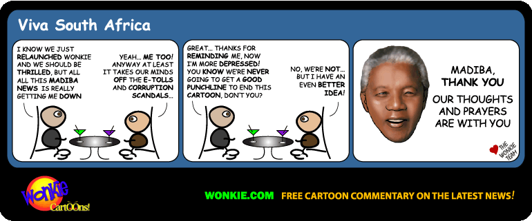 Goodbye Nelson Mandela cartoon