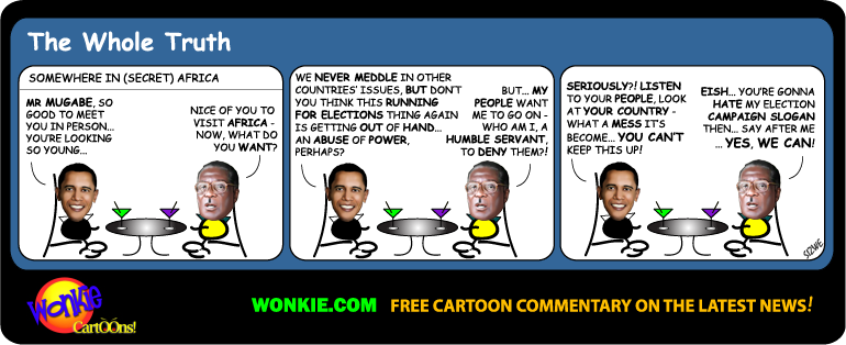 Zimbabwe Elections - Robert Mugabe Cartoon