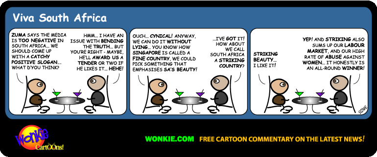 Strikes in South Africa cartoon