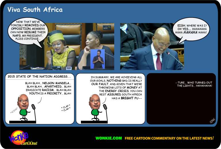 Jacob Zuma State of the Nation 2015 cartoon