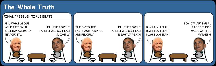 Final US presidential debate cartoon