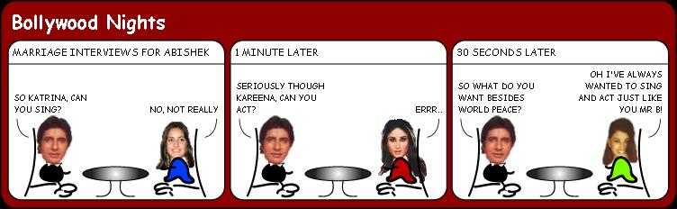 Interviews for Mrs Bachchan cartoon