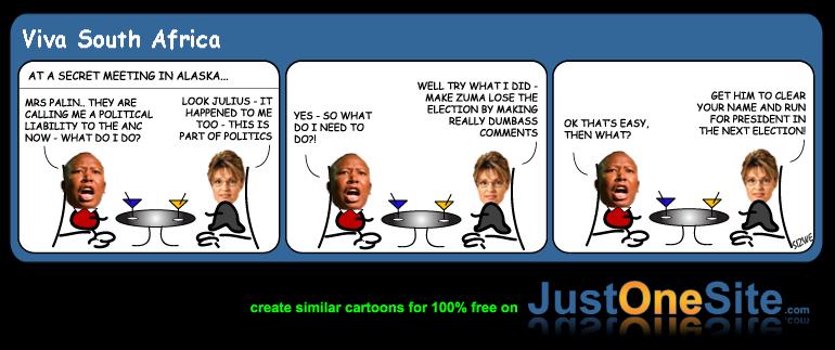 Malema and Palin pt1 cartoon