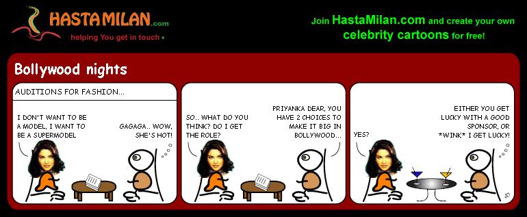 Priyanka Fashion cartoon