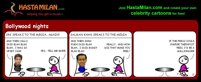 SRK and Sallu feud cartoon
