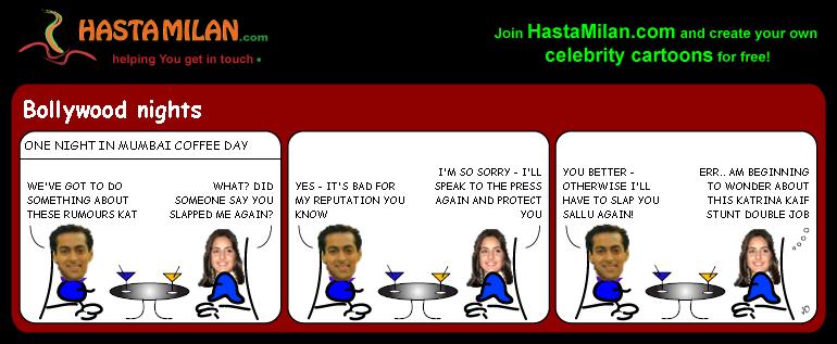 Salman and Kat cartoon