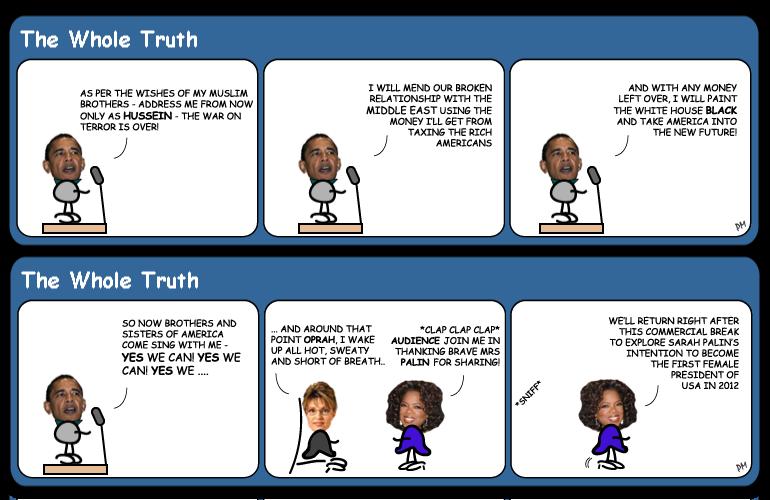 Sarah Palin on Oprah cartoon