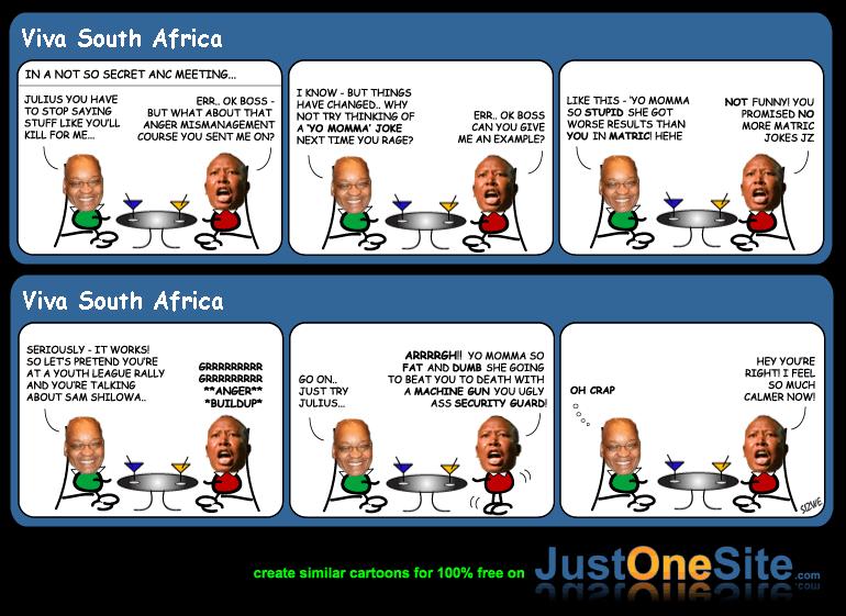 Zuma and Malema cartoon