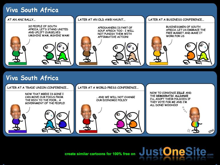 Zuma promises cartoon