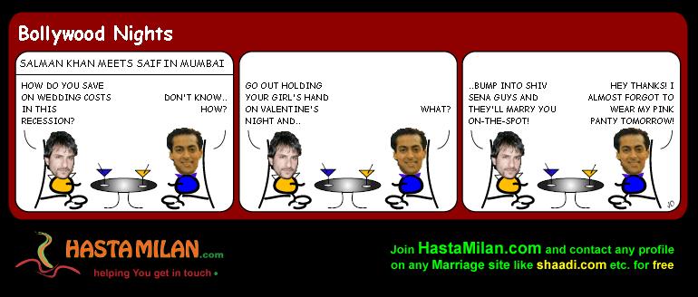 India Valentines day cartoon