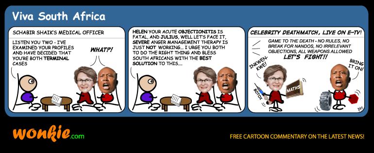 Zille Malema deathmatch cartoon