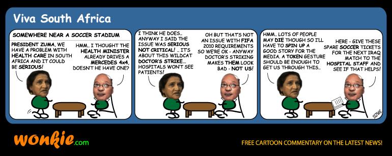 SAMA doctors strike cartoon
