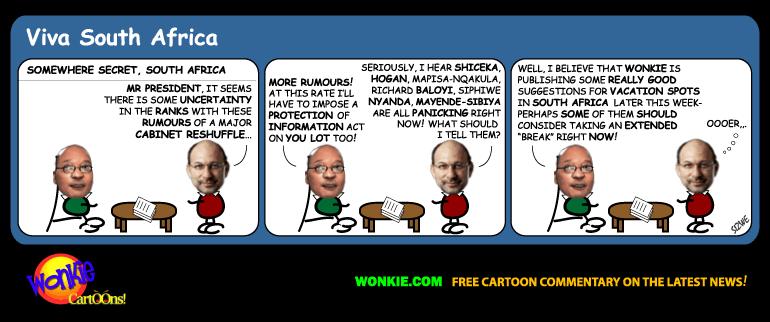 Zuma cabinet reshuffle cartoon