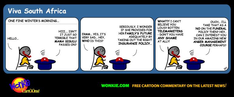 Stop telemarketers cartoon